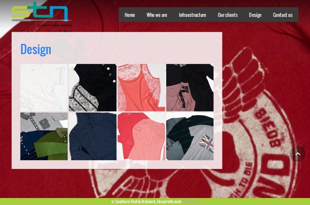 Desarrollo y remaquetación web: Southern Textile Network (STN)