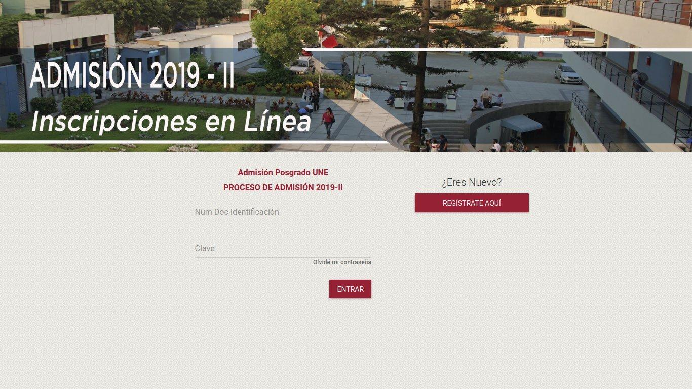 Desarrollo de software: Sistema de inscripción en línea para la Escuela de Posgrado de la UNE